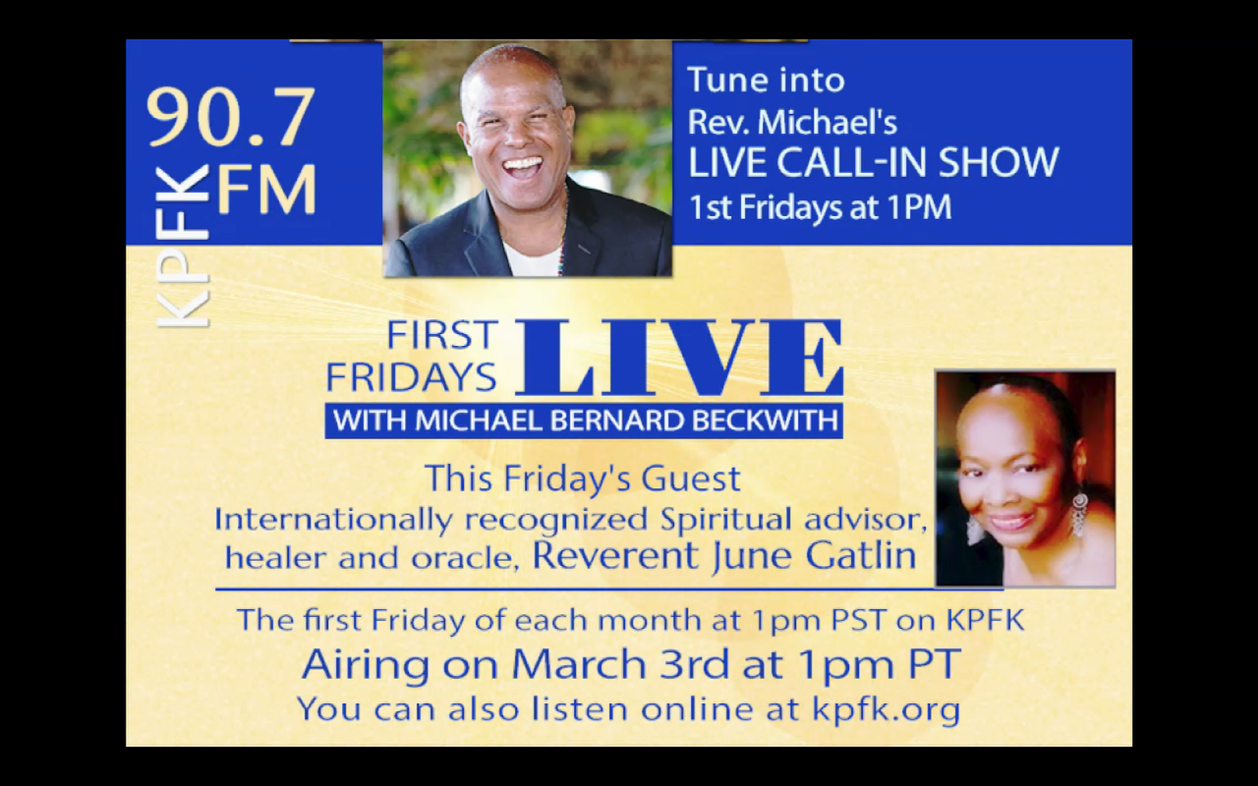 Rev. June w Michael Beckwith, 1st Friday, 3 Mar 2017